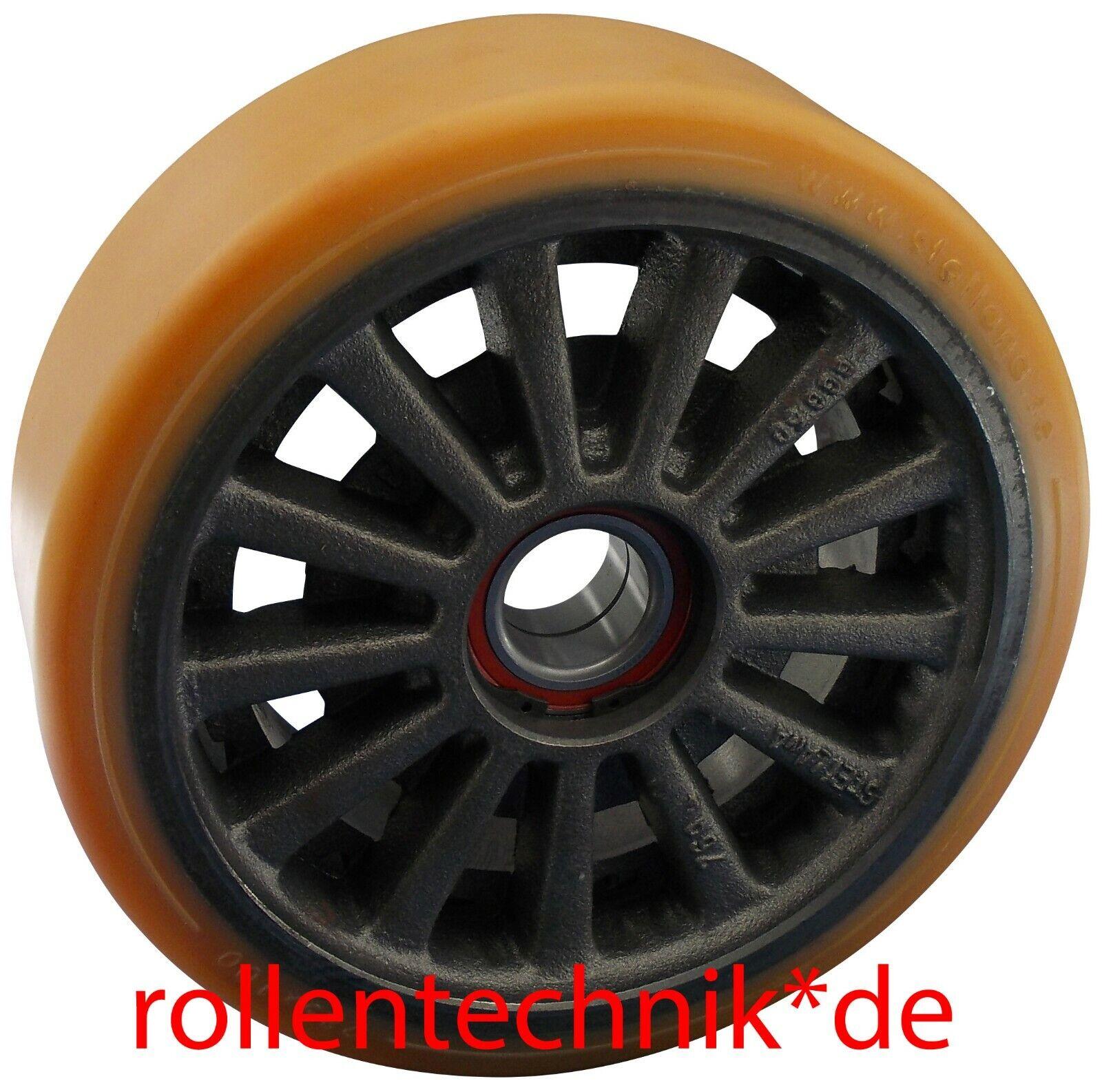 Rad 100x40mm Polyurethan Rolle 100x40mm Stützrad passend für Jungheinrich Linde