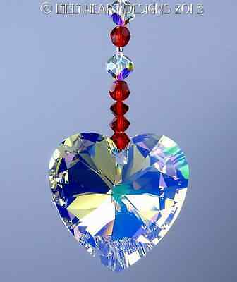 m/w Swarovski Crystal BIG AB Valentines Heart Sun Catcher Lilli Heart Designs