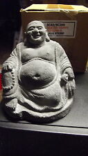 Happy Buddha Figur Skulptur Glücksbringer Steinguss