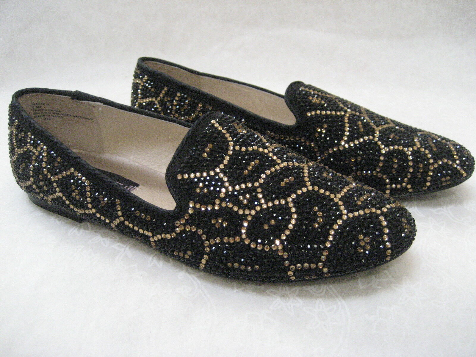 STEVEN BY STEVE MADDEN LEOPARD RHINESTONE FLATS chaussures Taille 9 1 2 W - NEW
