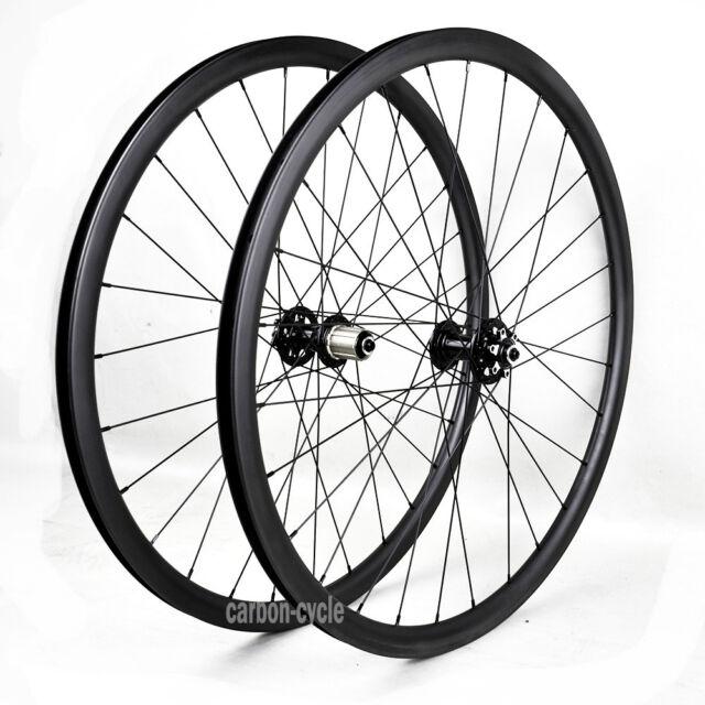 "29"" MTB Carbon wheel Clincher Mountain Bicycle Disc Brake 6 bolt UD Matt Novatec"