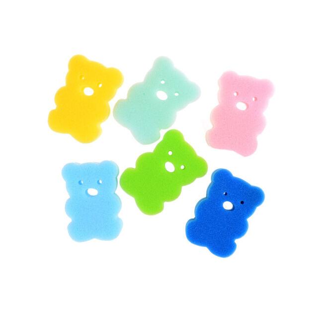 1X Baby Kids Newborn Bath  Brush Soft Pure Cotton Bath Foam Rub Shower Sponge LU