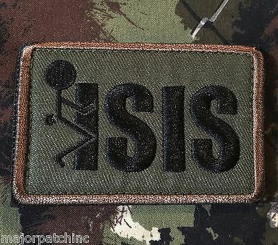 100/% QUALITY F/'S GIVEN US ARMY USA ISAF FORESTVELCRO® BRAND MORALE PATCH