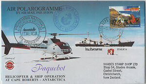 Postmark-Ross-Dependency-on-polarogramme-1991-Italian-Expedition-special-cachet