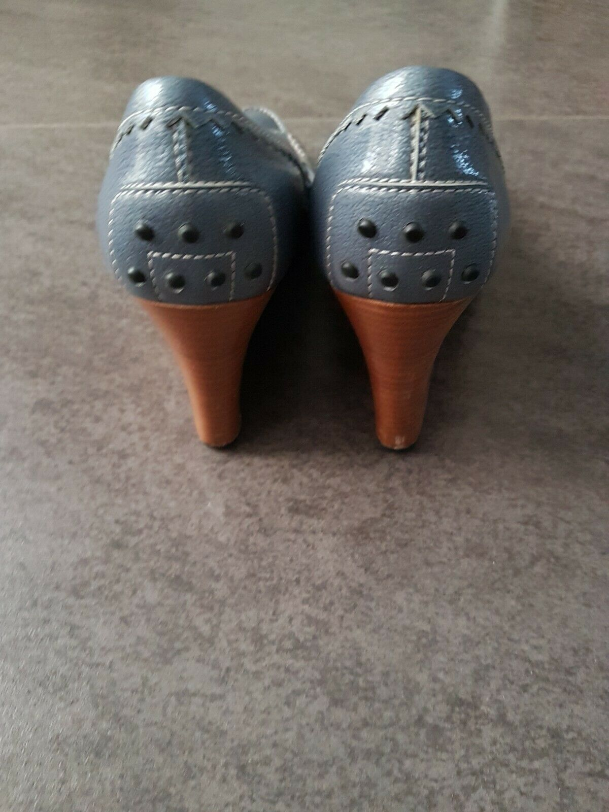 Tod& 039;s Wedges blau Damenschuhe Gr.37, Pumps, Leder Leder Leder f7ecf7