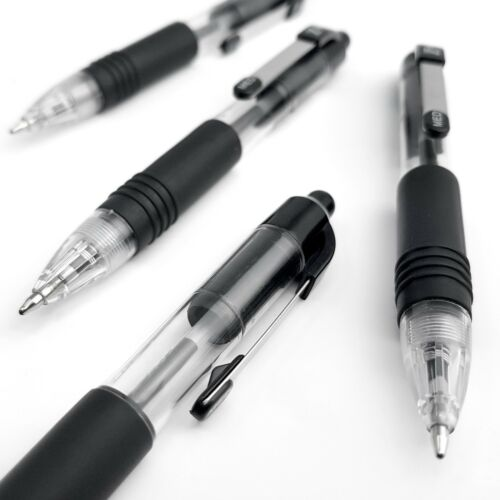 Pack of 8 Z-Grip Mini Retractable Ballpoint Pen Black