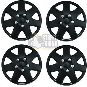 "Toyota Aygo 15/"" Stylish Black Tempest Wheel Cover Hub Caps x4"