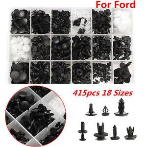 415pcs-Car-Push-Pin-Door-Panel-Rivets-Bumper-Retainer-Fastener-Clip-For-Ford
