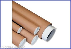 24-Pack-3-034-Kraft-Mailing-Shipping-Tubes-w-caps-14-Lengths-Available