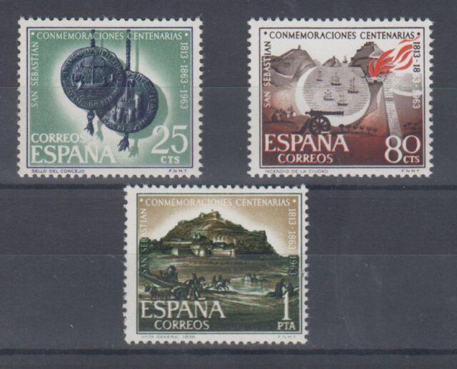 ESPAÑA (1963) MNH - NUEVO SIN FIJASELLOS SPAIN - EDIFIL 1516/18 SAN SEBASTIAN