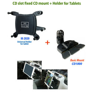 Best Cell Phone Car Mount 2020 CD slot mount + Universal Holder hold approximately 7~8 inches