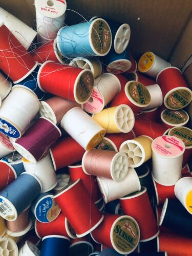 sewing thread lot spools MIXED//COTTON//POLYESTER AND LOTS MORE!!!