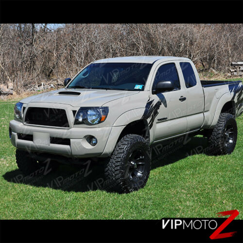 """For 05-11 Toyota Tacoma /""""TRD STYLE/"""" Black Front Headlights Head Lamp Pre Runner"""