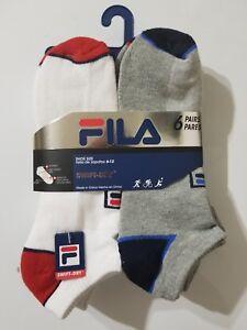 Swift-Dry-FILA-Socks-size-6-12-6-PACK