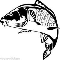 Sticker Pêche Poisson Carpe 20x20 Cm À 40x40 Cm, 18 Coloris Divers (carp006)