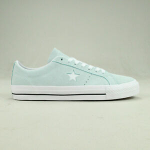 Details about Converse One Star Pro Ox Trainers Shoe in Light Blue in UK size 6,7,8,9,10,11