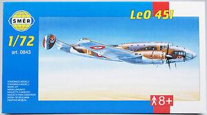 SMER-LeO-451-zweimotoriger-franzoesischer-Bomber-0843-Bausatz-1-72-OVP-NEU