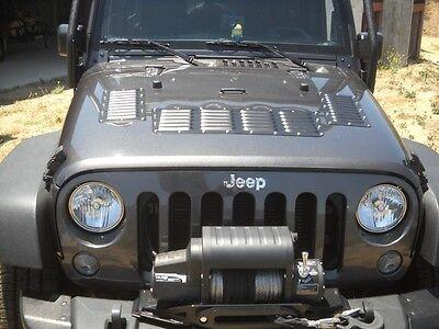 Jeep Wrangler 2013-2017 Bare Aluminum Hood Cooling louver Panels Kit RodLouvers