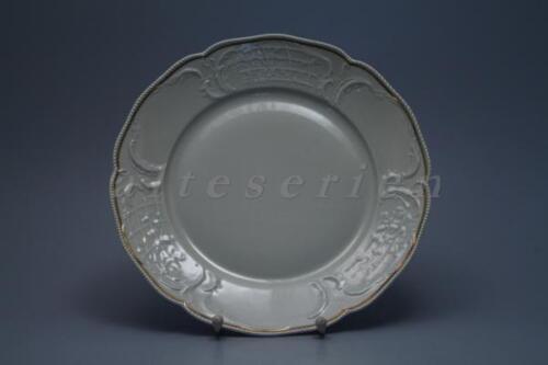 Speiseteller D 25 cm Rosenthal Sanssouci  elfenbeinfarben Poliergoldband 2992