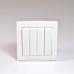 Interrupteur-de-lumiere-4-gang-2-way-10AX-studio-plastique-blanc-abb-concept-AC108