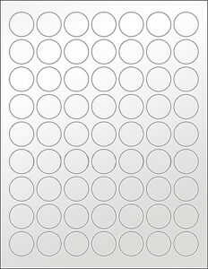 6 Sheets 1 Inch Round Blank Silver Stickers Labels Seal Metallic Wedding Crafts Ebay