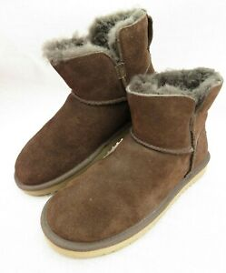 941f5659b90 Koolaburra by UGG Brown Classic Mini Winter Suede Boots Shearling ...