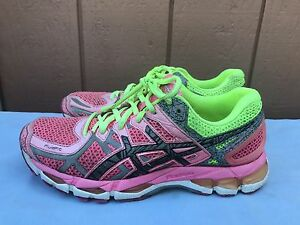 Clothing, Shoes & Accessories Athletic Shoes Lower Price with Euc Womens Asics Gel Kayano 21 Running Shoes 8.5 Us Blue Pink Yellow T4h7n Neon