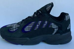 Adidas Yung-1 PLAID Core Black Purple EF3965 Yung 1 Mens Running Shoes Sneakers