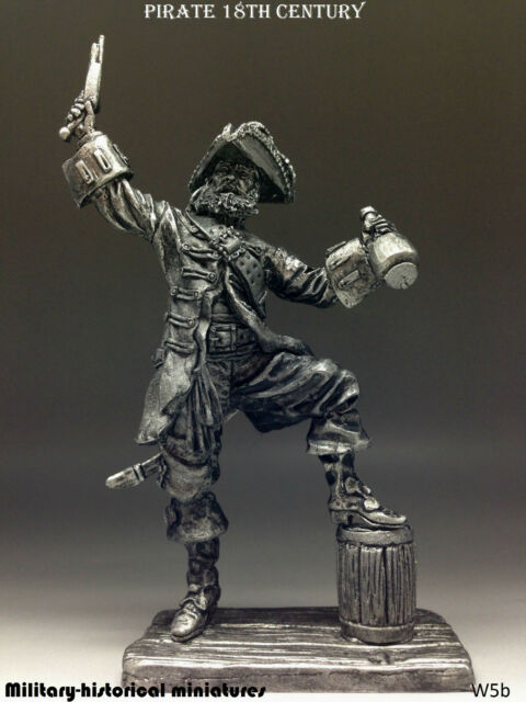Pirate 18 century, Tin toy soldier 54 mm, figurine, metal sculpture