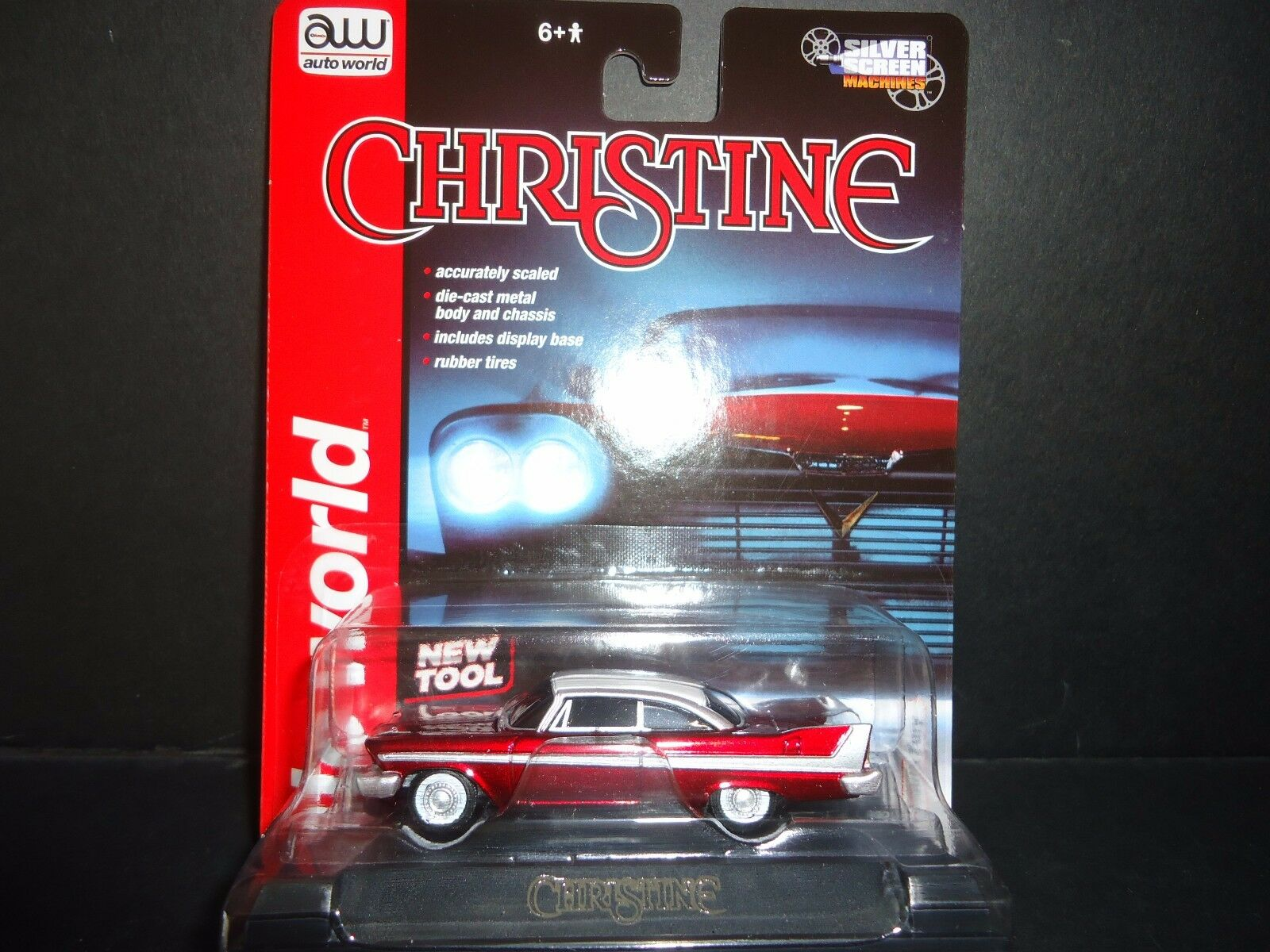 Auto World Plymouth Fury 1958 Christine 1 64 ULTRA RED CHASE