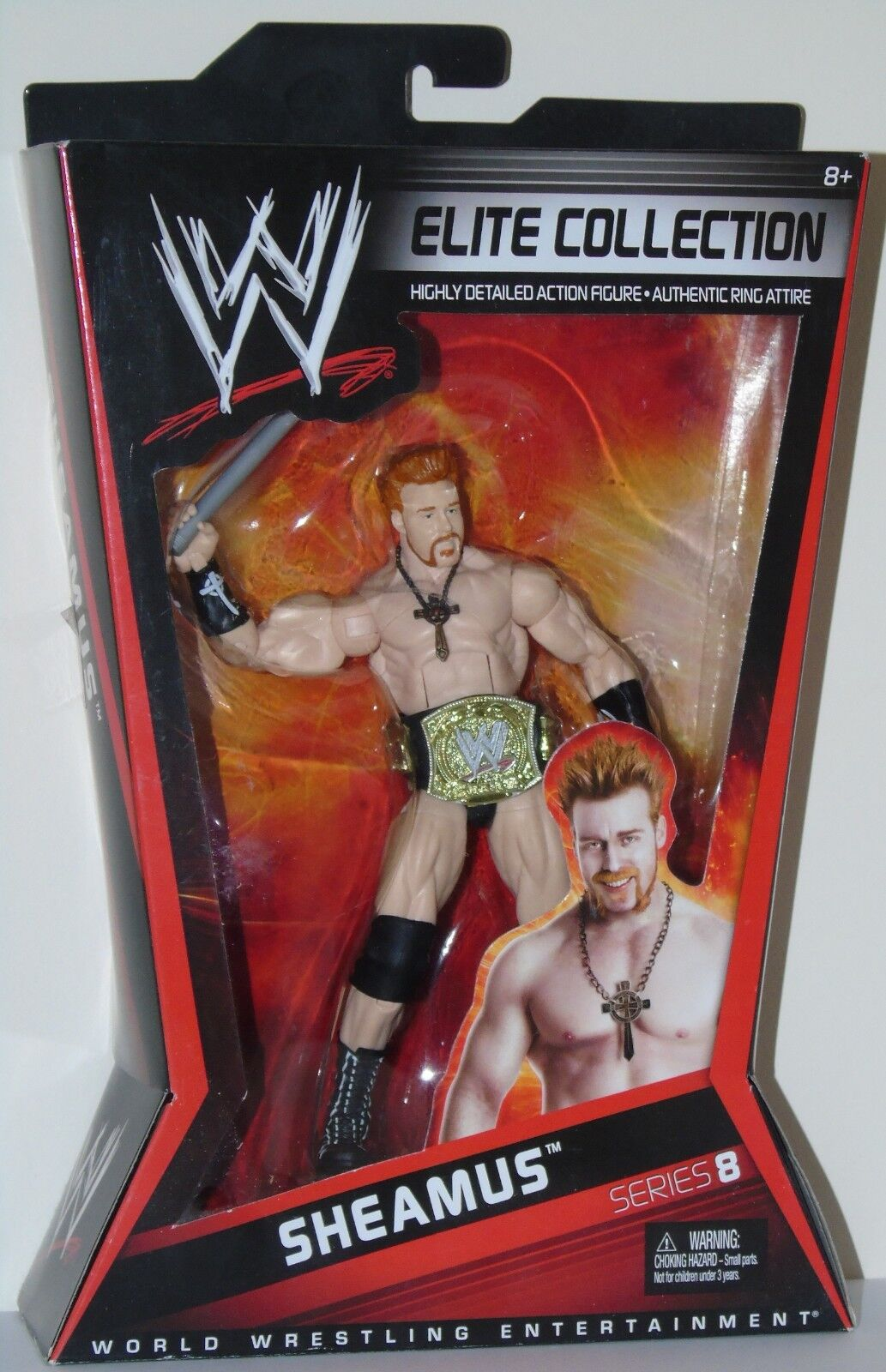 SHEAMUS FIGURE WWE ELITE WRESTLING SERIES 8 WITH TITLE BELT