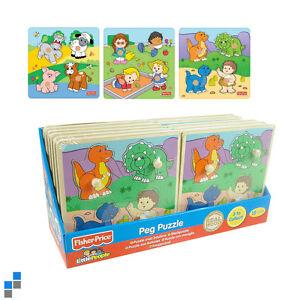 Fisher-Price-Kinderpuzzle-Holzpuzzle-Lernpuzzle-Holzspielzeug
