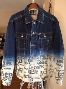 Details about Vintage Pepe Jeans London W11 73 Lot AA Blue Faded Denim Trucker Jacket Size XL