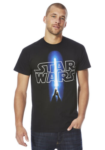 Star Wars Logo With Light Sabre Officially Licensed Various Sizes T-Shirt