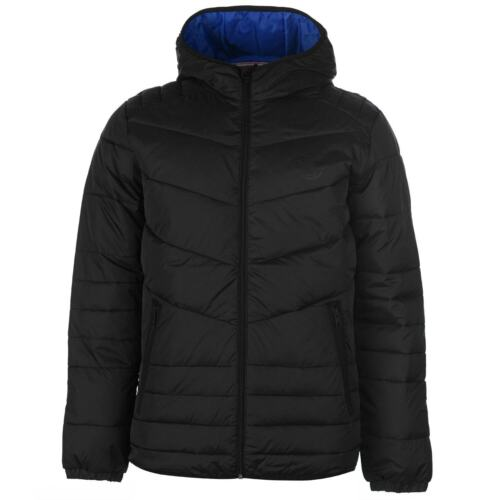 Jack and Jones Mens Jorbendt Puffer Jacket Coat Top Chin Guard Hooded Zip Full