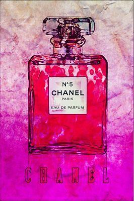 "Chanel-No5 Perfume Vogue Abstract Poster Original Fashion Art Print 16"" x 24"""