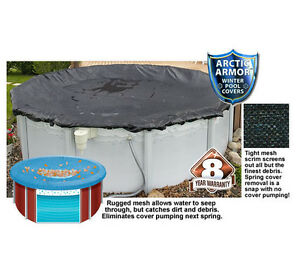 18ft Round 8yr Arctic Armor Rugged Mesh Above Ground Winter Pool Cover