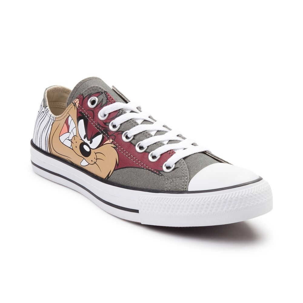 NEW Converse Chuck Taylor All Star Lo Looney Tunes Taz Sneaker Low Olive Donna