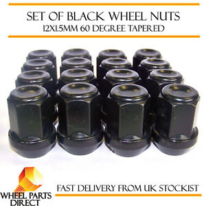Alloy-Wheel-Nuts-Black-16-12x1-5-Bolts-for-Ford-Fiesta-Mk6-08-16