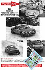 "DÉCALS Promo 1/24 réf 566 Matra 530 ""Jabouille- Marchesi"" Rallye Méditerranée 76"