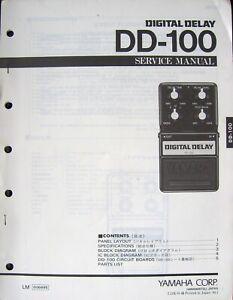 Details about Yamaha DD-100 Digital Delay Guitar Pedal Original Service on eq pedal schematic, guitar tube preamp schematic, reverb pedal schematic,