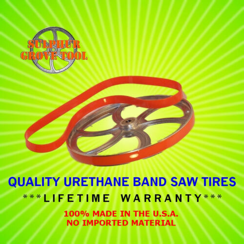 """Shop Fox W1707 17/"""" Urethane Band Saw Tires rplcs 2 OEM parts X1707012 USA Made"""