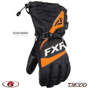 New 2021 FXR FUEL Men's Snowmobile Glove Black/Orange M 3XL Motorcycle