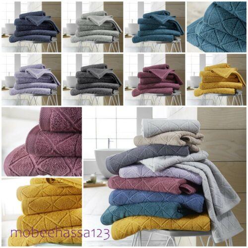 Luxury 600GSM 100/% Egyptian Cotton GEO Towel Hand Bath Towel Sheet Bathroom Set