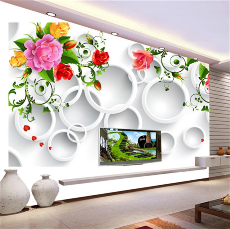 3D Farbeful Flower Ring 722 Wallpaper Mural Paper Wall Print Wallpaper Murals UK