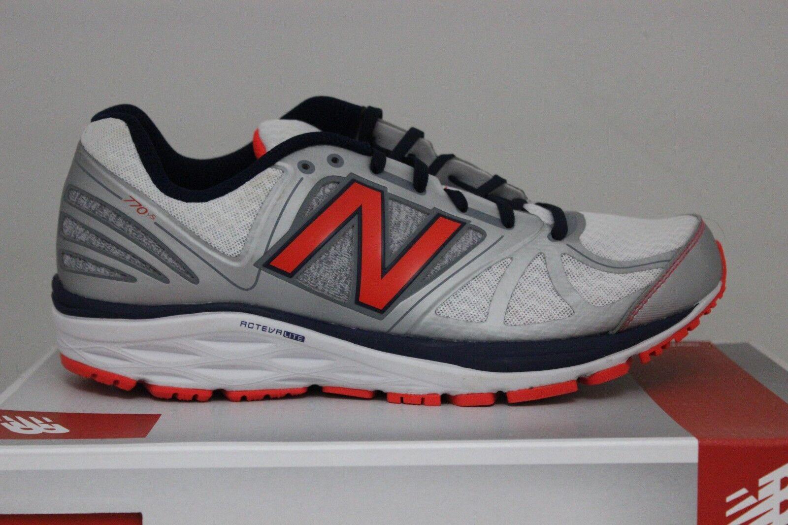Men's New Balance Running 770 V5 White/Navy/Orange M770SO5 Brand New