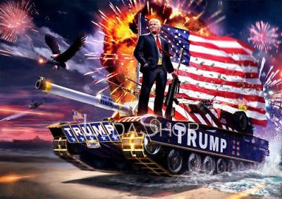 F-723 Donald Trump New American Republican President Winner Tank Poster 27x40in