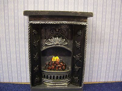 Dolls House Miniatures 1/12th scale Dark Grey Resin Fireplace New DF630 New *