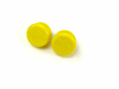 REG Toe Strap Buttons With Screws Yellow Vintage Bicycle For Toe Straps NOS