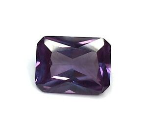 (3x2mm - 20x15mm) Octagon/Emerald Faceted AAA Lab Created Alexandrite Corundum